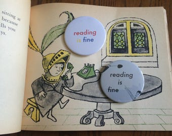 Reading Is Fine Pin
