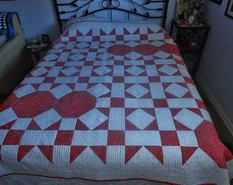 My Red and White Quilt