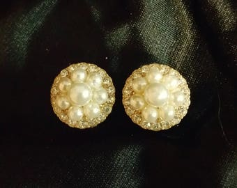 1/2 inch faux pearl special occasion plugs