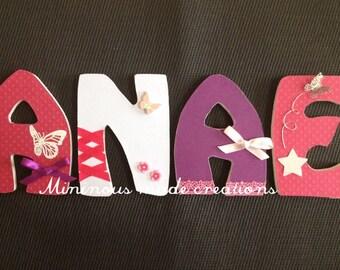 Wood - butterflies name WAI'ANAE initials