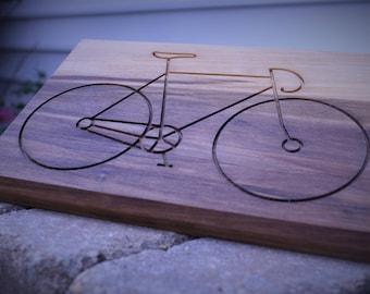 Modern, Rustic, Wood wall art, Bicycle, Plaque, Gift, Wedding Gift, Housewarming, Natural
