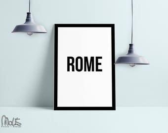 Rome print poster ,printable Wall Art Print, Instant Download, Printable Art