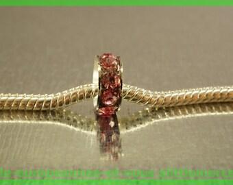 Pearl European N443 rhinestone spacer for bracelet charms