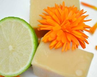 Vegan Soap, Gift for Him/Her, Natural Soap, Cold Processed Soap, Vegan Gift, Handmade Soap, Soaps UK, Soap Bar, Orange, Lime, Lemon