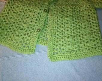 Pistachio green short sleeve vest