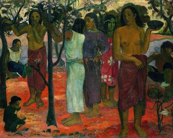 SET of TABLE ORIGINAL semi-rigid AESTHETIC WASHABLE and durable - Paul Gauguin - Nave Nave Mahana - classic