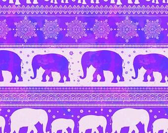 ORIGINAL design, durable and WASHABLE PLACEMAT - Indian Art - sacred elephants 1 frieze - classic.
