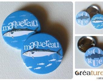 Badge design bird graphic: mackerel!