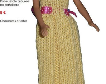Summer fresh yellow and pink dresses for Barbie