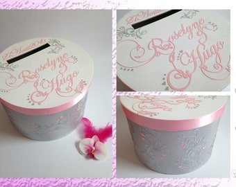 Format - Theme romantic Simple and Chic round wedding urn