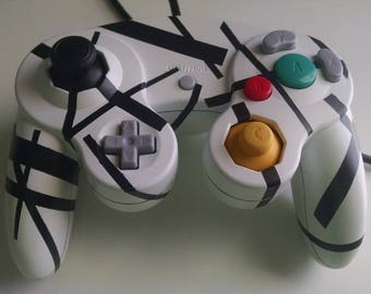 Striped Gamecube controller
