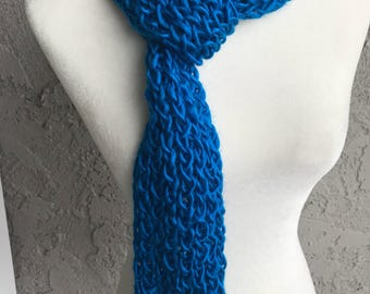 Handmade Knitted Scarf with loop Item #2005