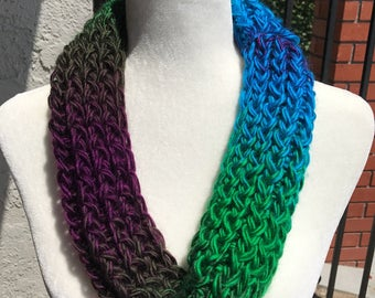 Handmade Knitted Circle Scarf Item #3002