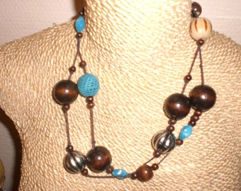 Blue and Brown necklace
