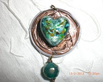 """Turquoise heart"" pendant"