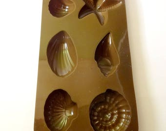Mold 6 shells silicone - chocolate - SOAP - mold - creative cooking