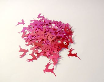 Glitter pink reindeer - 5g - party - home decor - embellishments - scrapbooking