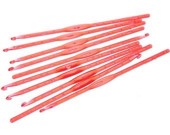 1 hook 4 mm plastic orange