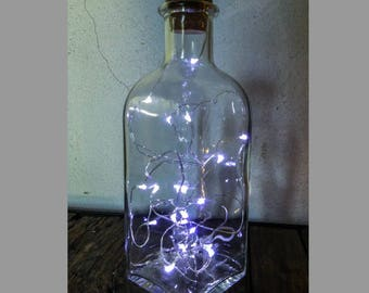LED Garland battery bottle lamp