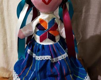 Hand Made Maria Mexican Rag Doll