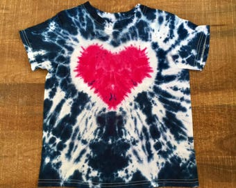 Heart Tye Dye T-Shirt Youth sizes XS-L