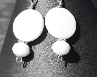 Simply elegant white beads