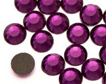 Rhinestones fusible purple 6mm - Pack of 5 rhinestones