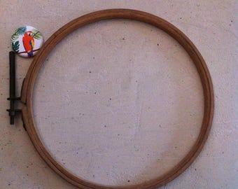 Embroidery hoop vintage wooden 18 cm