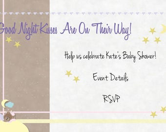 Gender Neutral Baby Shower Invitation (Custom)