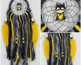 Black and Yellow Dress-up Superhero Dreamcatcher