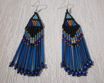 Native American style seed bead earrings
