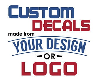 Custom Window Decal Etsy - Car window decals custom made