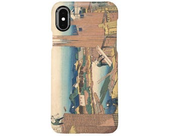 "iPhone case ""Tatekawa in Honjō (Honjō Tatekawa), from the series Thirty-six Views of Mount Fuji"""