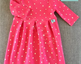 "Dress spring sweater ""pink heart"""