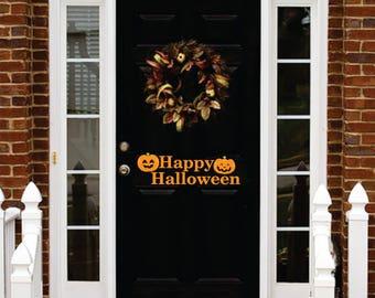 HAPPY HALLOWEEN Door vinyl wall art sticker decal halloween decorations decor HW3