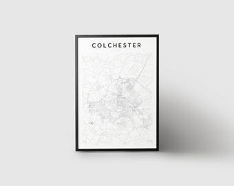 Colchester Map Print