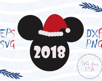 New Year Mickey Mouse Head  Svg Dxf Png Eps cut files for Cutting Machines Cameo or Cricut