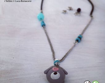 Necklace in fimo ' Randagiò ' of ' the Roofs ® '.