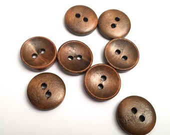 8 color 15 mm 2 holes (B74) chen wood buttons