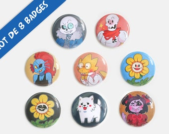 Undertale - set of 8 badges