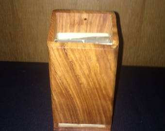Antique Wood Matchbox Holder Vintage
