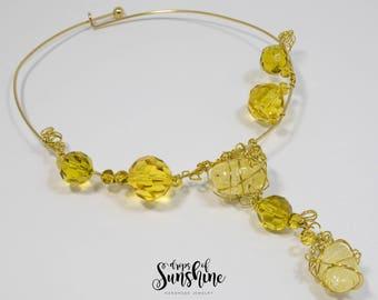 Yellow treasures necklace
