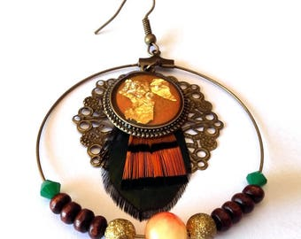 Maasai sunset earring