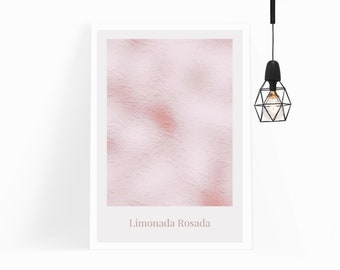 Limonada Rosada Print, Wall Art Printable, Pink Wall Art, Nordic Scandi Abstract Style Decor for Gallery Walls-INSTANT DOWNLOAD