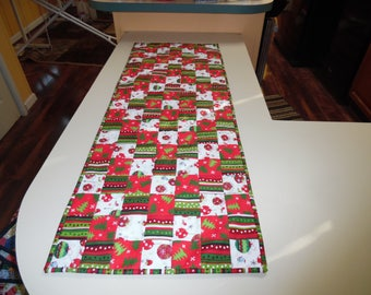 Christmas Trip Around the World table runner