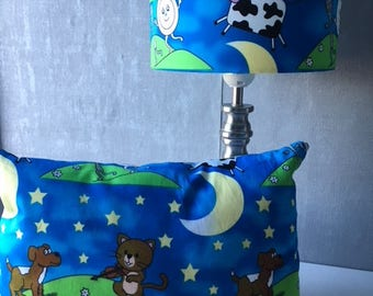 Hey Diddle Diddle.. Pre-filled Cushion and Lampshade