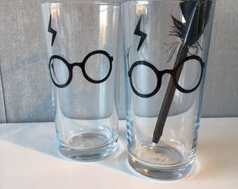 Pair of Hi-ball Harry Potter Glasses with Glasses and Scar