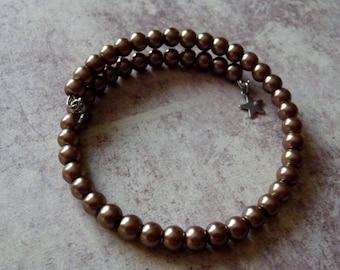 Glass Pearl Beads Bracelet shape memory