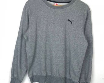 Rare!!! Vintage!!! Puma Sweatshirt Pullover  Small Logo Jumper
