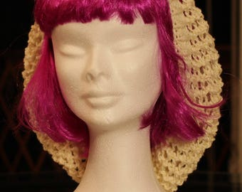slouchy or Beanie falling bamboo, cotton and dralon